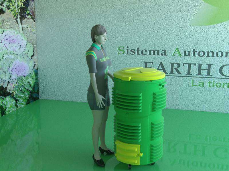 Compostador plástico EARTHGREEN SAC  200