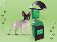 Punto ecológico para desechos de mascotas